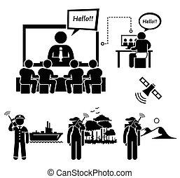影像, 事務, 會議
