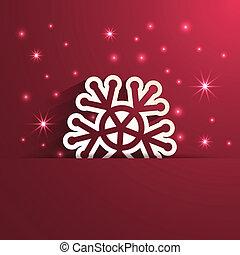 影響, 雪花, 紙, 形狀