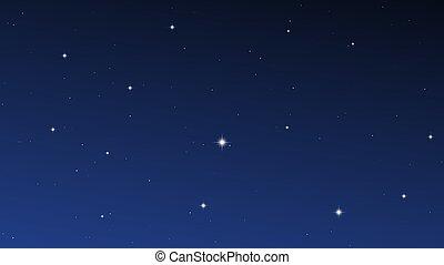 很多, 星, 天空, 夜晚