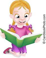 很少, 閱讀, 女孩