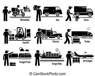 後勤, 運輸, 集合, 車輛