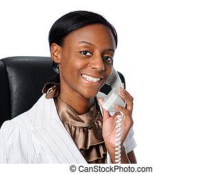 從事工商業的女性, 年輕, 電話