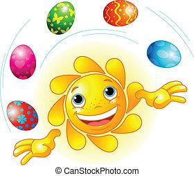 復活節, 玩戲法, 太陽, 漂亮