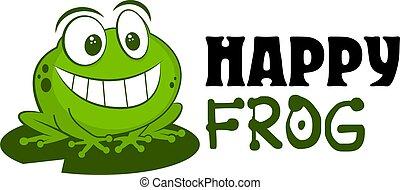 微笑, 列印, 有趣, 標識語, 矢量, 蟾蜍, illustration., 漂亮, 卡通, 背景, 畫, 貨物, 吉祥人, 坐, 衣服, 青蛙, leaf., 白色, 手, 孩子, 被隔离, 勛章, 商店, 孩子