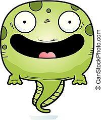 微笑, 卡通, 蝌蚪