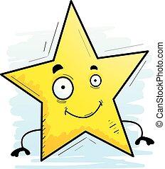 微笑, 星, 卡通