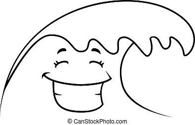 微笑, 波浪