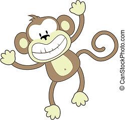 微笑, 猴子