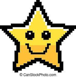 微笑, 8-bit, 星, 卡通