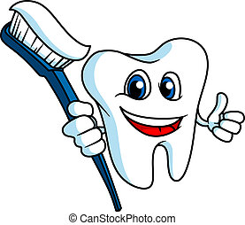 微笑, tooth-brush, 牙齒