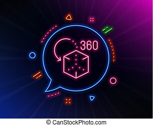 徵候。, 3d, cube., vr, icon., augmented, 現實, 線, 矢量, 模擬