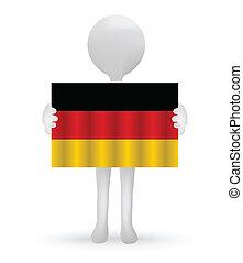 德國旗, 藏品, 小, 3d, 人