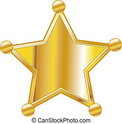 徽章, 藝術, 郡長, 夾子