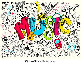 心不在焉地亂寫亂畫, 音樂