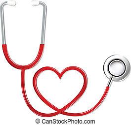 心形狀, 聽診器