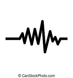 心監視器, 打, 脈衝, 單色, 線