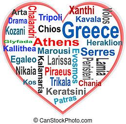 心, 大, 詞, 希臘, 城市, 雲