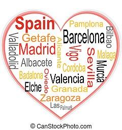 心, 大, 雲, 詞, 城市, 西班牙