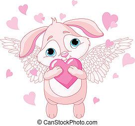 心, 愛, 漂亮, 兔子