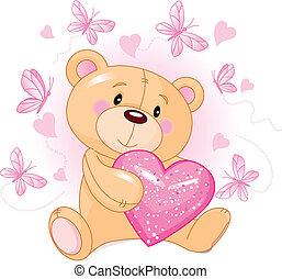 心, 愛, 熊, teddy