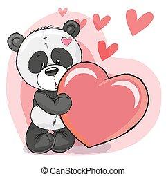 心, 熊貓