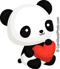 心, 熊貓, 枕頭