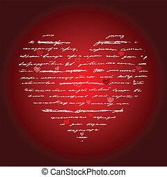 心, 矢量, love., illustration., 背景。