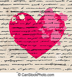 心, 矢量, love., illustration., ba