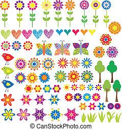心, 花, 動物, 彙整