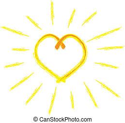 心, 陽光