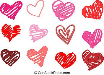 心, love., illustration.