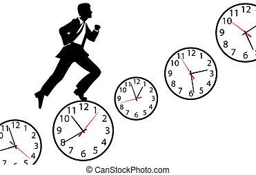 忙, 鐘, 工作, 向上, 快點!, 天, 人