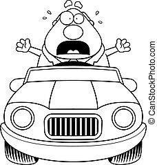 恐慌, 卡通, 開車, 老板