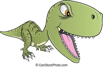 恐龍, t-rex, 矢量, 堅韌