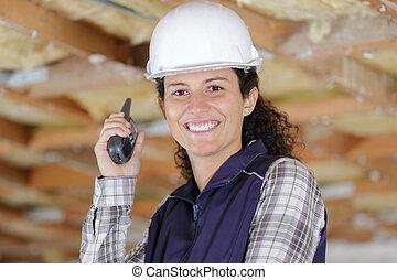 愉快的婦女, 步話机, 站點, 建造者, 建設