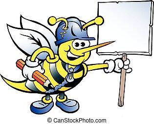 愉快, 簽署, 藏品, 工作, 蜜蜂