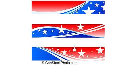 愛國, 旗幟, 天, 獨立