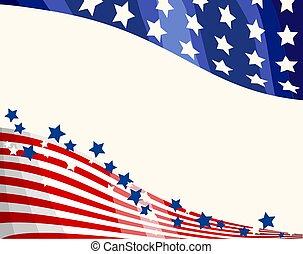 愛國, 背景, 旗, 美國人