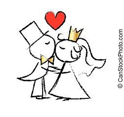 愛, 婚禮夫婦