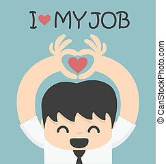 愛, 工作, 我