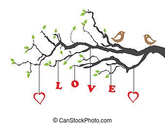 愛, 樹, 兩只鳥