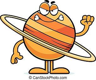 憤怒, 土星, 卡通