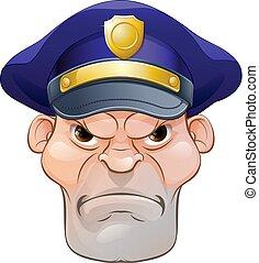 憤怒, 手段, 卡通, 警察