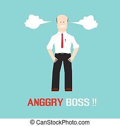 憤怒, 老板