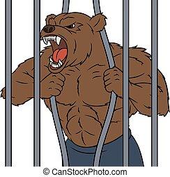 憤怒, 2, 籠子, 熊