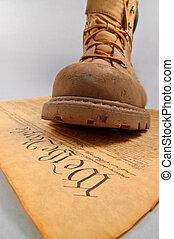 憲法, 舉步
