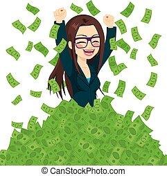 成功, 從事工商業的女性, 超級, 富有
