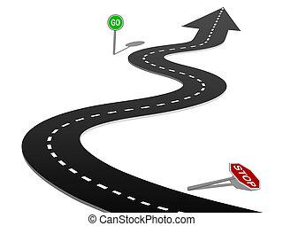 成功, 曲線, 停止簽署, 去, 進展, 高速公路