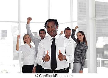 成功, 隊, 慶祝, 事務