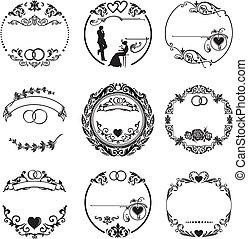 戒指, 框架, 輪, 婚禮